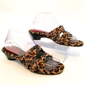 J.Renee leopard print slides size 8.5